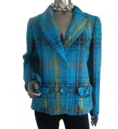 OscarB - Tweed Jacket, Turquoise-Blue/ Code: 56541-T